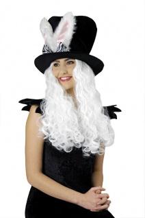 Zylinder Hut schwarz, rosa Hasenohren Bunny Junggesellenabschied, Zauberer Damen
