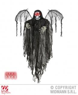 Deko, Todes Engel, Figur 100cm, Augen leuchtend m.Batterien, Halloween 9534