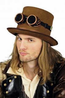 Fliegerbrille, Gothic Steampunk Kupfer Retro Flieger Karneval Herren