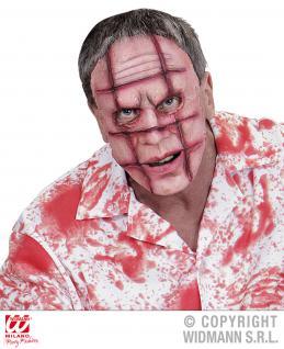 Gruselmaske mit Narben Wunden Killer, Blut Horror Halloween
