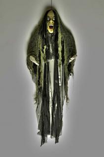 Tod, Skelett Figur Deko Hängefigur schaurig schwarz 85x70 Halloween - Vorschau 4