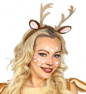 Rehkitz Reh Haarreifen Damen braun Filz Geweih, Ohren Kostüm passend