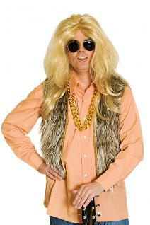 Plüschweste braun Kostüm, Raver, Hippie, Wikinger Herren
