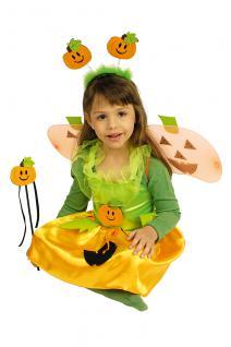 Kürbiskleid Kostüm 4 tlg. Halloween Kinder Mädchen 3-4 Jahre -Angebot-