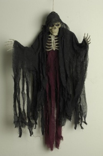 Deko Figur Dämon Tod Skelett Geist Hängend 85 cm Halloween ohne Ton