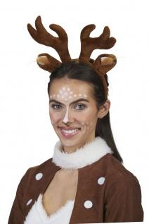 Rehkitz Reh Haarreif Damen braun Geweih Ohren Plüsch Weihnachten