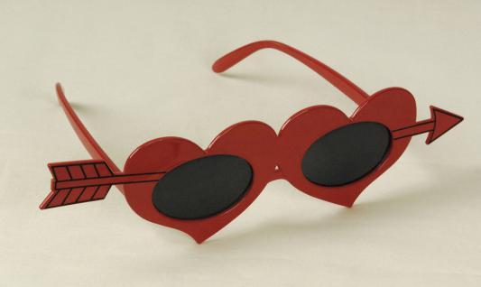 Rote Herz Amor Brille mit Pfeil, Damen Gag Valentinstag Junggesellinnenabschied - Vorschau 2