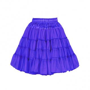 Petticoat Tutu Tüllrock knielang BLAU 2-lagig Volumen Damen Kostüm