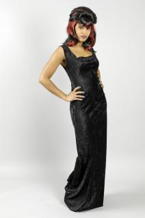 Kleid Basic, lang schwarz Ärmellos - Vorschau 3