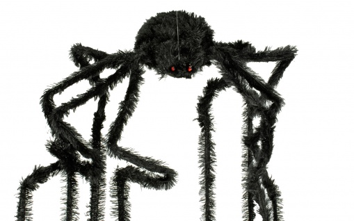 Riesen Spinne schwarz ca. 30 x 60 cm animiert Deko Halloween Horror - Vorschau 3