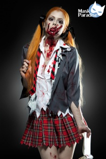 5 tlg Sexy Zombie Schoolgirl ---L