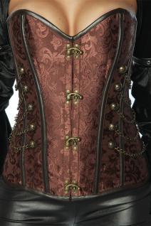 Burlesque Gothic sexy Corsage, braun, Steampunk, Effektapplikation Damen
