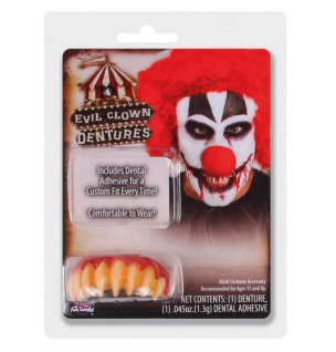 Böser Clown Gebiss Killer Zähne spitz Halloween Horror