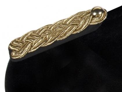 Epauletten 2 Schulterstücke Uniform Komitee schwarz-gold