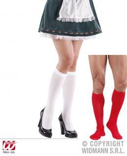 Trachten Kniestrümpfe Socken ---weiß