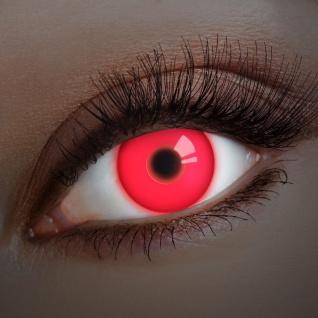UV farbige Kontaktlinsen rot Horror Halloween Vampir Dämon Jahreslinsen