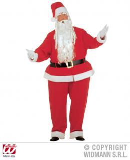 Dicker Weihnachtsmann + Mütze XXL mit Reifhemd Reifhose Kostüm