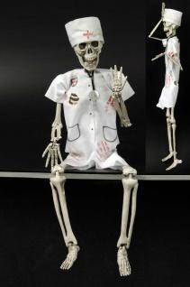 Deko Skelett Figur Zombie Chirurg Arzt z Hängen 45x12 beweglich Halloween
