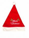 10 x Weihnachtsmütze, Nikolausmütze rot BESTICKT Merry Christmas Damen Kinder