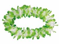 2 x Hawaiikette Blumenkette 12 cm groß, grün-weiß dicke Blüten, m25