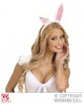 Bunny Hasen Ohren, Haarreif weiß rosa, 14 cm Erwachsene, KInder