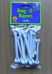 10 Knochen zum Annähen, Neandertaler, Steinzeitmensch, Karneval Halloween