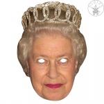 Queen Elisabeth 2D Maske Gesichtsmaske Promi Politiker, Augenlöcher