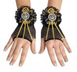Steampunk Zahnrad Netz Handschuhe Fingerlos Gothic, Punk, Rave Damen