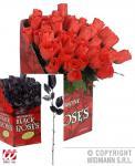 Rote, schwarze Rosen Kunst Blumen ---rote Rosen