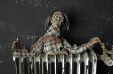 Zombie Figur animiert hängend Deko Grusel Halloween 35 x 40