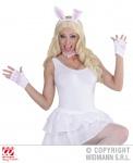 4 tlg. Bunny Hasen Set, Haarreif Ohren, Halsband, Handschuhe Damen