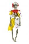 Deko Skelett Figur Zombie CLOWN z Hängen 45x12 beweglich Halloween