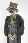 Horror Zombie Vogelscheuche, rote leuchtende Augen + Ratten 150 x 50