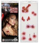 Tattoo Vampirbiss Bisswunde mit Kreuz Halloween Effekte Applikation