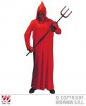 Teufel Kostüm mit Kapuzenmaske rot, Kinder, 0249 Karneval ---140