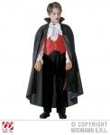 DRACULA Vampir Kostüm Overall + Umhang Kinder ---128