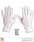 Handschuhe weiß XL, Zauberer, Magier, Clown, Weihnachtsmann
