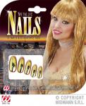 Künstliche Nägel GOLD 15 Nails + 30 Tabs, EXTRA lang Fingernägel