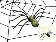 Leucht-Spinne + Spinnennetz ---schwarz