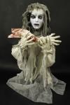 Vampir Braut Figur animiert Deko Halloween weiß-grau 80x70 cm