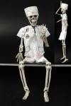 Skelett Figur Zombie Chirurg Arzt z Hängen 45x12DEKO beweglich Halloween