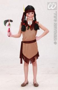 Indianerin Kostüm, Kinder braun Gürtel + Haarband 128, 140, 158