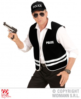 Polizei Weste FBI, Weste + Cap Kappe