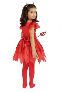 Teufelchen Kostüm, Mädchen Kleid rot