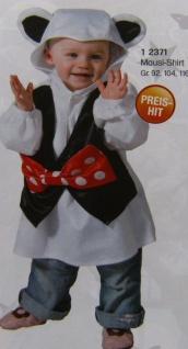 Maus Kostüm, Kleinkinder Kinder, feiner Plüsch + Kapuze Gr. 104, 116