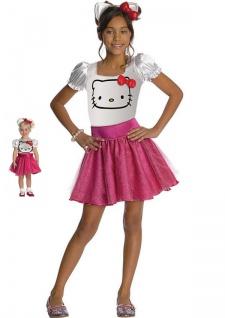 Hello Kitty Kostüm Mädchen Gr. 92, 104, 116-128, 140, 152 LIZENZ