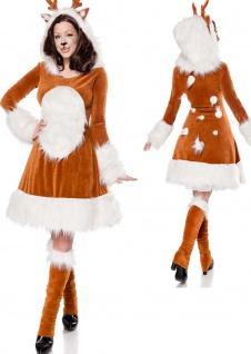 3 tlg.Rehkitz Reh Kostüm Bambi Tier braun, Damen Weihnachten Karneval