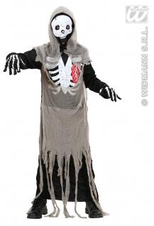Skelett Zombie Kostüm Halloween Horror, 122-128, 134-140, 158 Kinder 1273