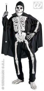 Skelett Kostüm 4 tlg.