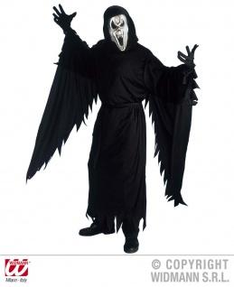 Scream Kostüm, 4tlg Kaputzenrobe, Handschuhe, Maske, Gürtel S, M, L 3984